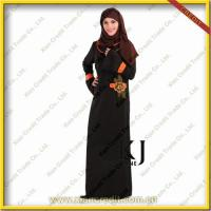 China 2012 Fashion Dubai abaya with our own design KJH-001 on sale