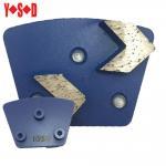 Quality 2 Arrow Segment Trapezoid metal bond diamond shoes with Screw backing for sale