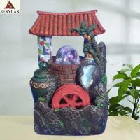 China Polyresin House Fountain with Glass Ball (SY908004) on sale