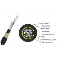 Quality Dry Core 24 Core Fiber Optic Cable , FRP Strength Member Single Mode Fiber Cable for sale