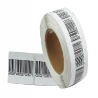 Buy cheap with raised logo brand woven AM label in roll from wholesalers