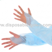 Quality Anti Splash L XL Long Sleeve Disposable CPE Gown for sale