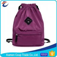 Quality Large Capacity Coloured Drawstring Bags / Outdoor Travel Backpack Sports Gym Bag for sale