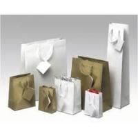 Quality Transfer Printing White Paper Custom Printed Gift Bags for Shopping with transfer printing for sale