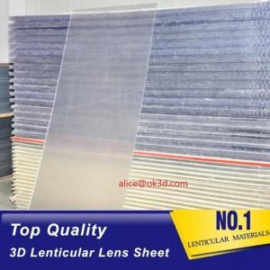 Quality OK3D sell 70LPI PET 0.9MM 60X80CM Lenticular Plastic lens for 3d lenticular printing by injekt print and UV offset print for sale