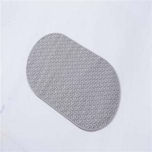 China Round Non Slip  68 X 38.5cm PVC Bath Mat For Bathtub on sale