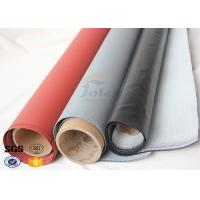 Buy Red Silicone Rubber Coated High Silica Fabric for Welding Protection 1.4mm at wholesale prices