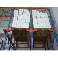 Quality Blue / orange multi level Drive in pallet racking with single / double side bracket for sale