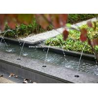 Quality Bamboo Outdoor Water Fountains For Home With Waterproof Underwater Light for sale
