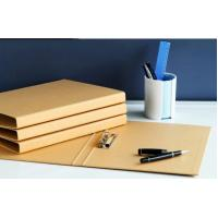Buy Brown A4 Paper Folder Recycle Material Kraft Paper File Folder Clip Folder at wholesale prices