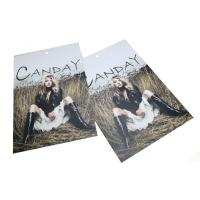 Quality CMYK custom brand printing hang tag for clothing / jewelry / goods for sale