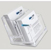 Quality SGS Acrylic Plastic Business Card Boxes / Business Card Case For Men for sale