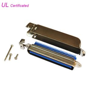 Quality 90 Degree 64 Pin Amphenol IDC Male Connector 32 Pairs Plug with 90 degree metal cover for sale