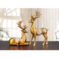 Quality Christmas Reindeer Resin Arts And Crafts Home / Hotel Decoration Use for sale