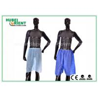 Quality Blue Non Woven Men Silk Boxer Shorts For Spa Massage / Hair Saloon , Free Sample for sale