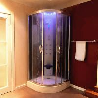 Quality Multi Function Massage Steam Shower Bath Cabin Mirror Glass Back Wall for sale