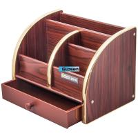 Quality Combination Desk Office Pen Holder With Drawer Large Capacity for sale