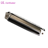 Quality 32Pairs 64Pin Centronic PCB Right Angel Female connector Certificated UL for sale
