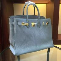 Quality high quality 35cm light blue women brand name handbags TOGO leather bags designer handbags L-RB2-5 for sale