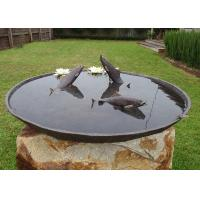 Quality Antique Cast Metal Fish Bronze Statue Bowl Water Fountain Metal Lawn Sculptures for sale