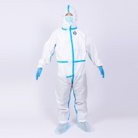 Quality Antibacterial Anti Virus  Full Body Disposable Coverall Suit for sale