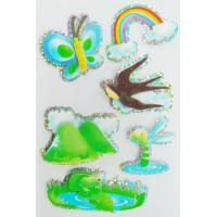 Quality Customized printable 3D holographic stickers / Paper Layered Peel off sticker for sale