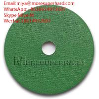 Quality green cut off wheel , cutting disc for stainless steel, general steel miya@moresuperhard.com for sale