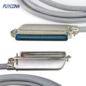Quality RJ21 IDC Cable Assembly 90 Degree Or 45 Degree Metal Cover Outlet for sale