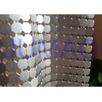 Quality 8 Mm Corrosive Resistance Silver Metal Fabric Colorful Rings Room Divider for sale