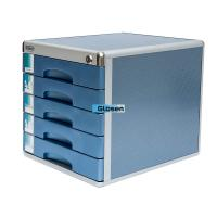 Quality Industrial Portable Steel Blue Office File Cabinet Five Drawer for sale