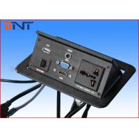 Quality Multimedia Conference Desktop Hidden Pop Up Power Outlets With HDMI / VGA / USB for sale
