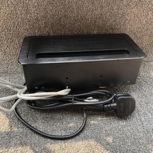 Buy cheap Universale Power Data RJ45 Desktop Socket Box / Black Color Tabletop Mounted from wholesalers