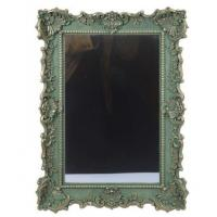 Buy cheap Large Green Baroque Resin Wall Mirror Floral Scalloped Leaf Scrolls Vintage from wholesalers