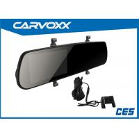 China 1080P FHD 4.3 Inch Rear View Mirror DVR Dual Camera Support Motion Detection on sale