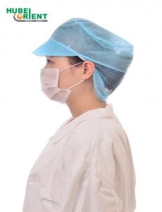 Quality ISO13485 Nonwoven Disposable Snood Caps With Peak for sale