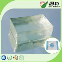 Quality Colorless Block PSA Hot Melt Adhesive For Baby Paper Diaper Sanitary Mat for sale