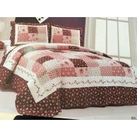 Burgundy Color Home Bed Quilts Modern Technics With Matched Printed 240x260cm