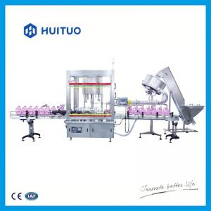 Quality Huituo automatic pistion filling machine for liquid detergent and dishwash large volume bottles for sale