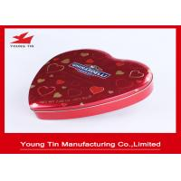 Quality Chocolate Gifts Packaging Heart Shaped Tin Box , Full Color Printed Heart Shaped Tin Containers for sale