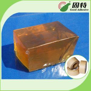Quality Yellow Transparent Block Hot Melt Glue Adhesive Pressure-Sensitive Melt Adhesive Kraft Paper Tape for sale
