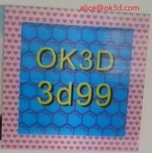 Quality OK3D 3d lenticular effect 360 degrees dot raster 3D stereoscopic Frame fly eye 3d photo frames for home decorations for sale