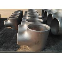 Round Seamless Stainless Steel Equal Tee Alloy C Pipe Fittings 2 - 40 Mm Wall Thickness
