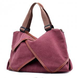 Quality Multi Function School Ladies Canvas Handbags High Standard 50 X 12 X 30 Cm Size for sale