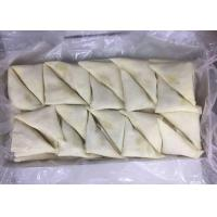 Quality Triangle - Shaped Frozen Spring Rolls , Frozen Vegetable Samosa Chinese Snack for sale