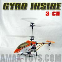 China 3 Channel Golden Scropion Aluminum RC Electric Helicopter RTF Built in GyroScope Flashing LED Night Lights (RH-YD811) on sale