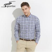 Buy cheap New Arrival Business Dress Shirts , Plaid Flannel Formal Shirts For Men from wholesalers
