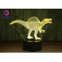 Quality RGB 3D Dinosaur Night Light Touch Screen Spinosaurus Thanksgiving Gifts for sale