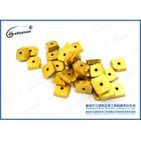 Buy cheap Yellow Coating Cemented tungsten ground carbide insert for cutting tools from wholesalers