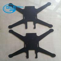 Quality cnc glossy twill carbon fiber universal plate, carbon fiber cnc cutting parts for drones for sale