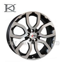 China 14 Inch - 17 Inch Gloss Black Cast Alloy Wheels Alloy Rims With Red Lip on sale